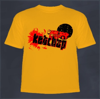 Pulp Fiction T-Shirt (Quentin Tarantino, Ketchup)